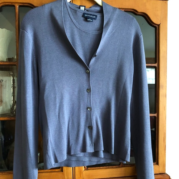Ann Taylor Sweaters - 100% Silk Ann Taylor, light purple set.